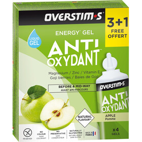 OVERSTIM.s Antioxydant Liquid Gel Box 3+1 Free 4x30g, Green Apple